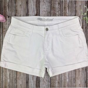 Old Navy Boyfriend Cuffed White Jean Shorts  EUC